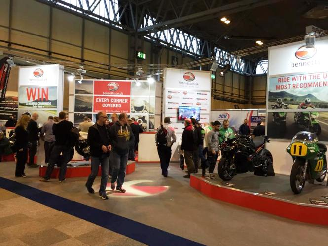 The Bennetts stand at Motorcycle Live
