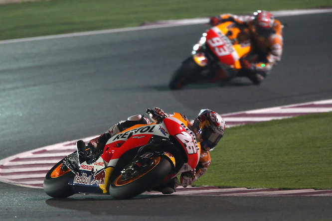 Pedrosa couldn't remain ahead of Marquez