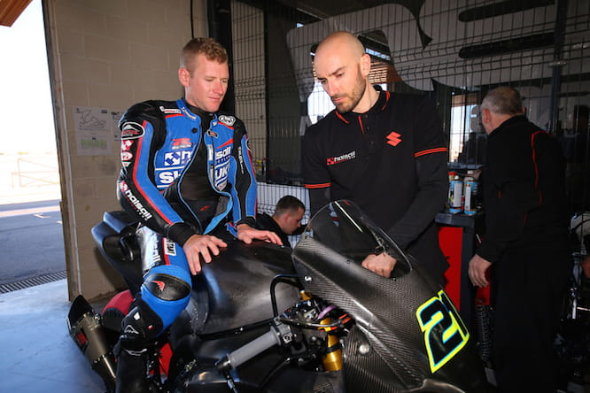 Waters will ride the GSX-R this year