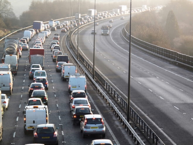 Average UK journeys in 2014 took 29% longer than they would in free-flowing traffic