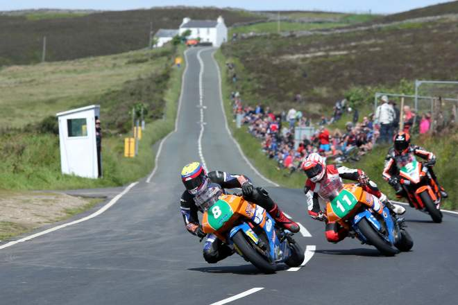 Jamie Hamilton, James Cowton and Ryan Farquhar at the Creg