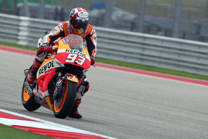 Marquez pushed the limits on his dash for pole