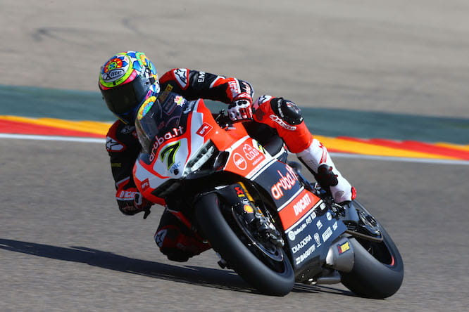 Davies broke the Panigale's duck in Aragon