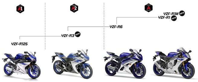 Yamaha's current R-series and the appropriate licencing