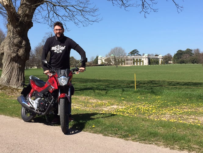 Marc Potter is at Goodwood with the CB125F