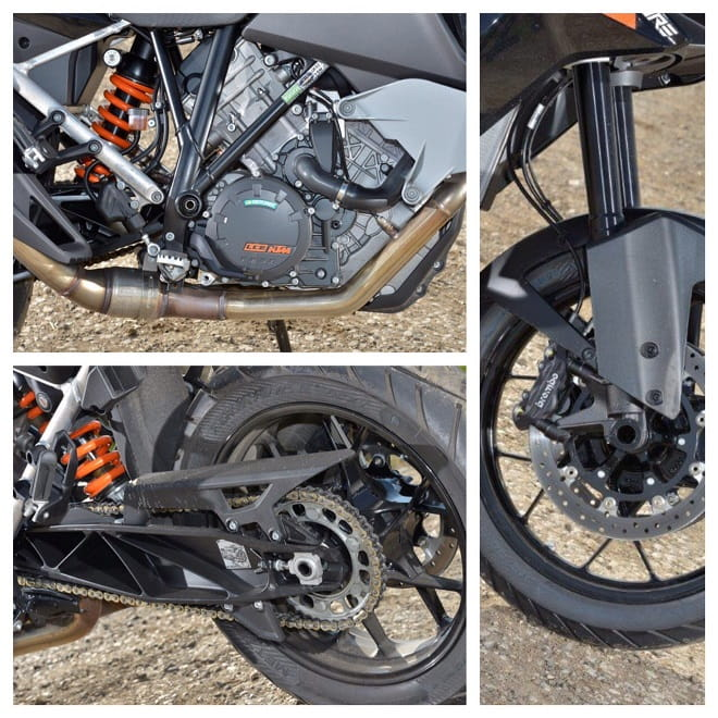 Brembo brakes and WP suspension give the KTM refinement