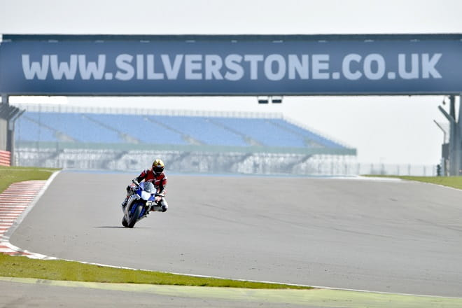 Bike Social's Marc Potter has the freedom of Silverstone with an R1