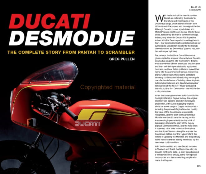 Update your Ducati history with this £25 hardback