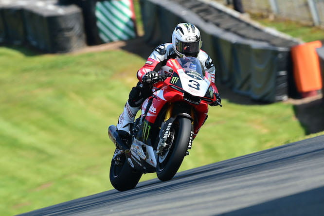 Michael Dunlop testing the R1 at Oulton Park
