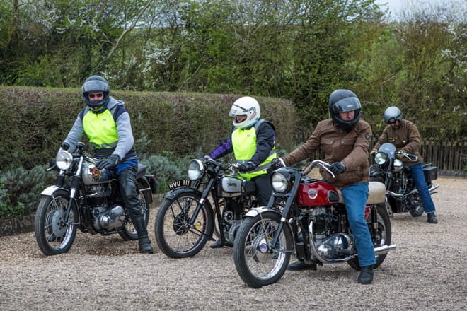 Quite a line-up with the BSA, Norton and Ariel leading the way