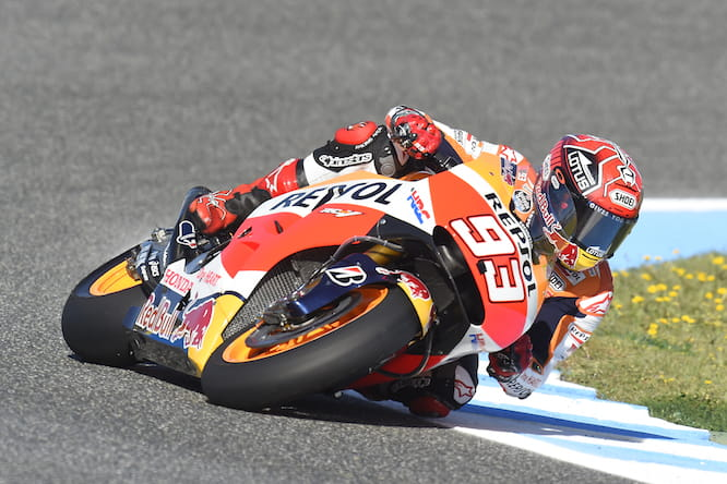 Marquez held on to second