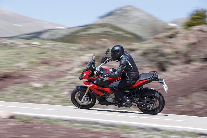 The S1000XR is a rapid road bike that's happy touring or tearing it up.