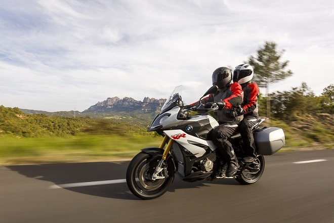 S1000XR does two-up as well as it does solo riding. Room for two so you have no excuses for not taking the other half on your next long trip. Sorry.