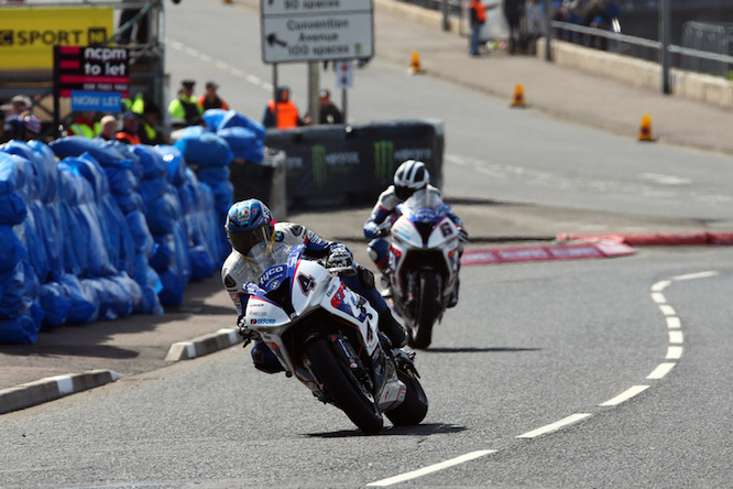 Martin on the BMW S 1000 RR at the North West 200