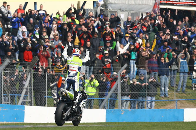 Toseland won just one race at Donington