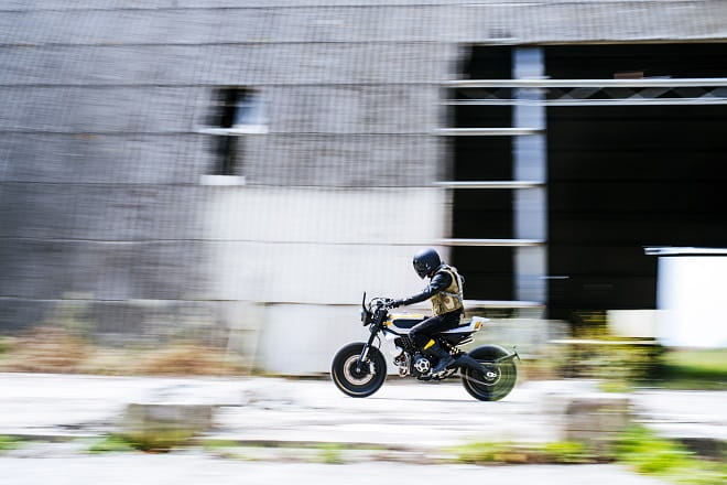 Ducati's Scrambler, but not as you know it. See this at Bike Shed this weekend.