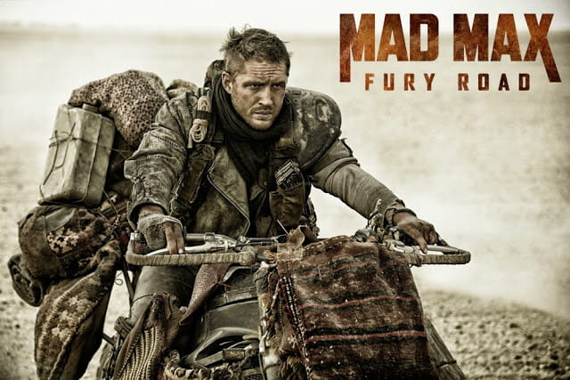 Britain's very own Tom Hardy on board a Yamaha R1 covered in carpet in the new Mad Max Fury Road movie.