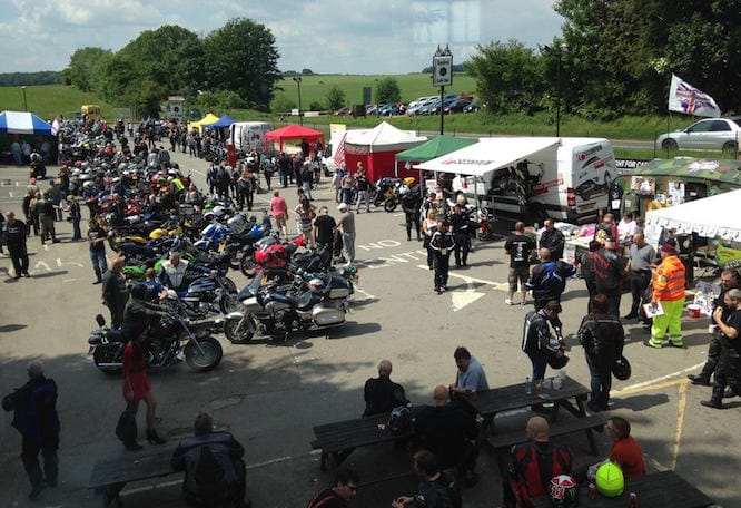 Squires cafe is popular with bikers