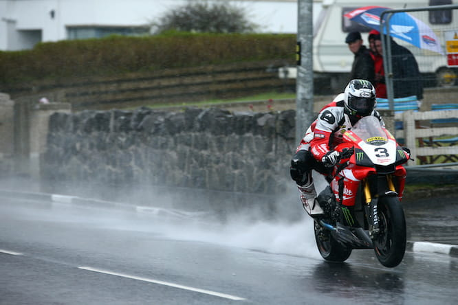 Dunlop had a tough time at the North West 200