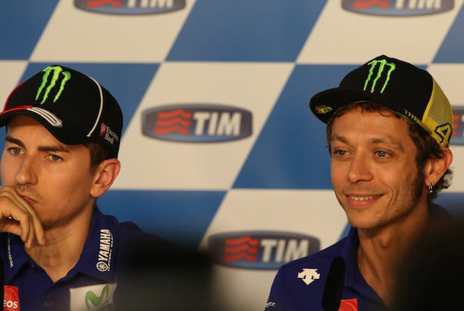 Rossi says his team mate is his first enemy