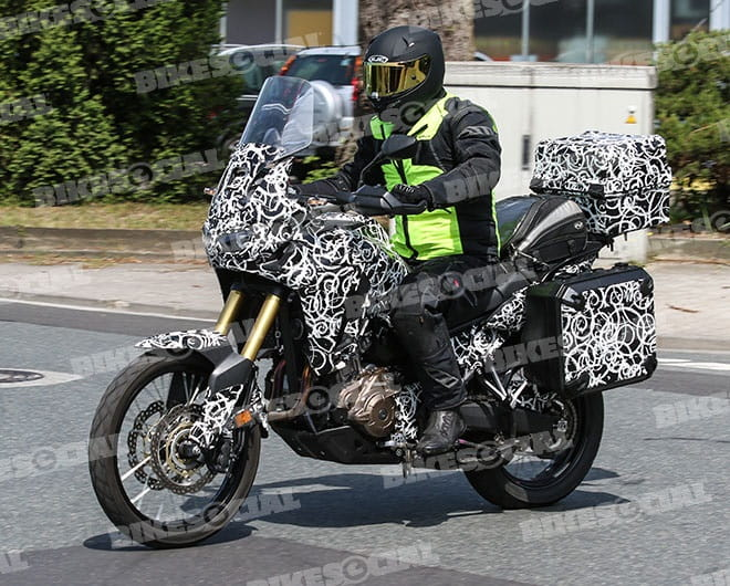 Honda's new CRF1000L Africa Twin spied testing in Germany.