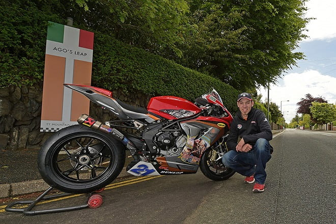Hickman's MV Agusta ride sponsored by rock gods, Iron Maiden