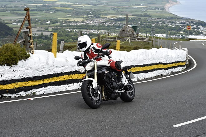 Bike Social's Michael Mann tests the new Arai RX-7V on the Isle of Man TT course