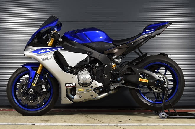 Not as handsome as the other side with that glorious Akrapovic pipe, but the R1 is hardness personified.