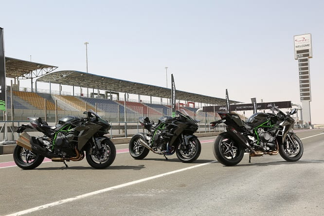 Ninja H2 and H2R in Qatar on the press launch
