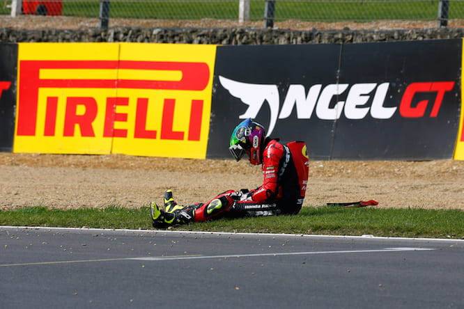 Linfoot broke his wrist at Brands