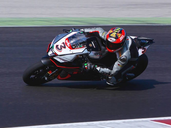 Biaggi has spent a lot of time on the Aprilia