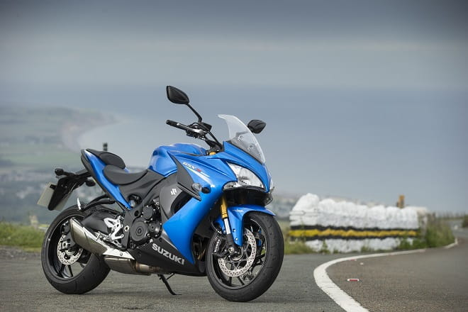 Suzuki's GSX-S1000F at the Isle of Man, taking in the view at Guthries.