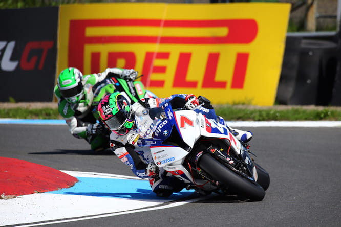 Laverty charged through in race one