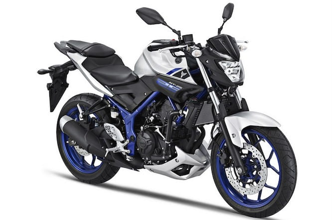 Yamaha's MT25, which will soon become the MT-03 in Europe