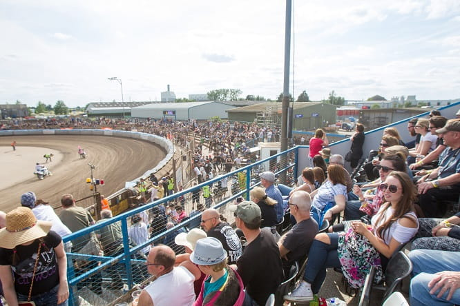 The crowds enjoyed the summer weather and high class entertainment at the Adrian Flux Arena in Kings Lynn