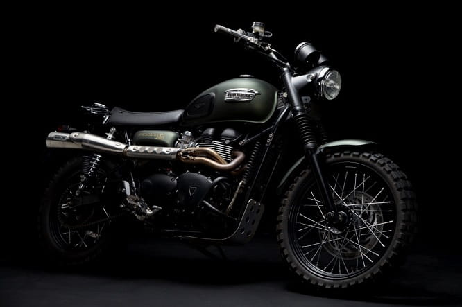 Film star Triumph Scrambler set to be auctioned for charity