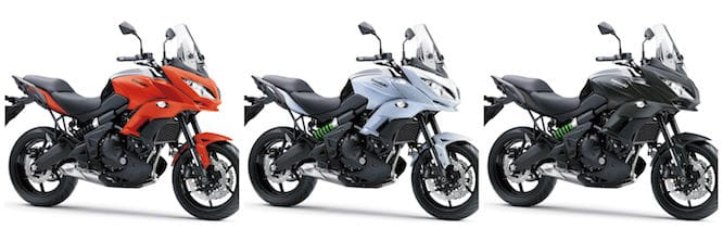 And three new colours for the Versys 650