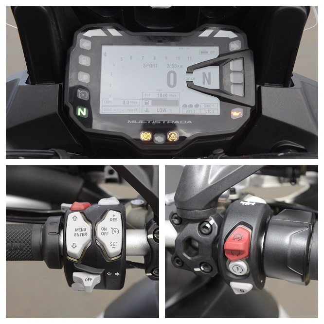 Ducati: Keyless ignition means this is the lock button