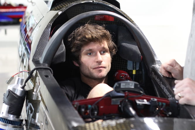 Guy Martin tries the Triumph Rocket Streamliner for size