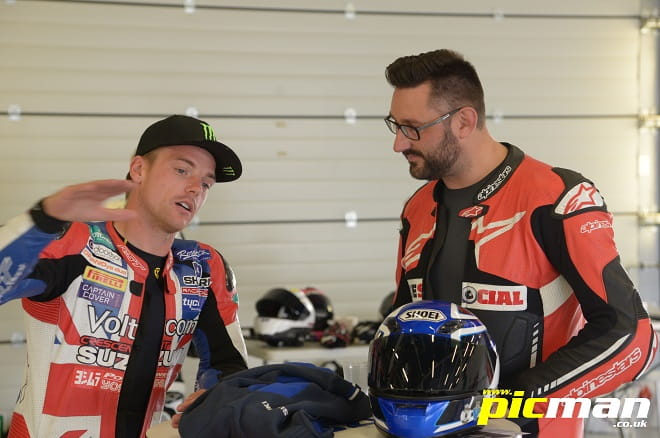 Lowes tells Bike Social's Potter about his lairy action!