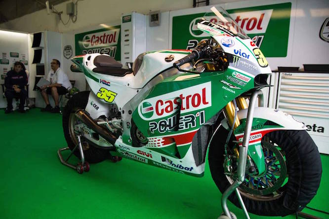 Crutchlow sported a Castrol livery at the Brno test
