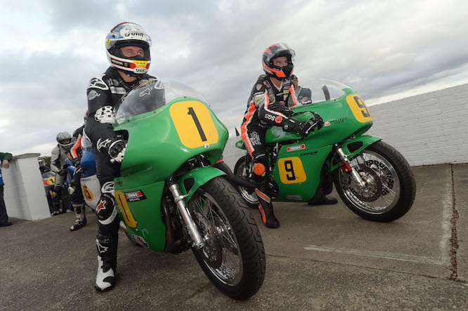 McGuinness and Farquhar will line up on the Roger Winfield bikes