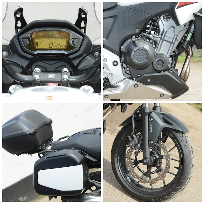 The ABS works great, the LCD screen is easy to read and the panniers are useful