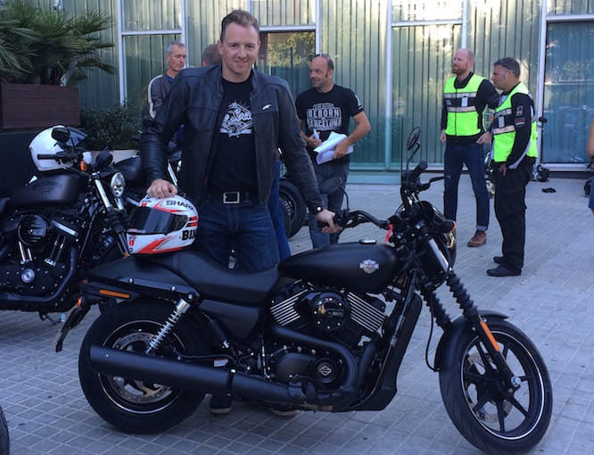 Michael Mann with Harley's Street 750