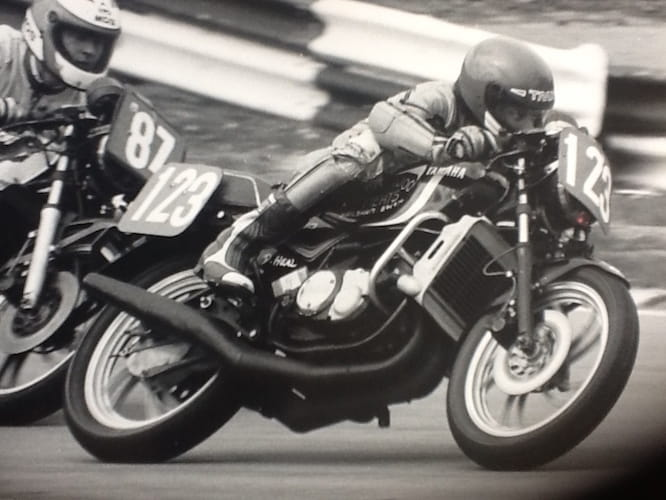 Dave Heal on his RD350LC