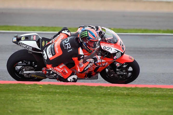 Sam Lowes took sixth in his home Grand Prix
