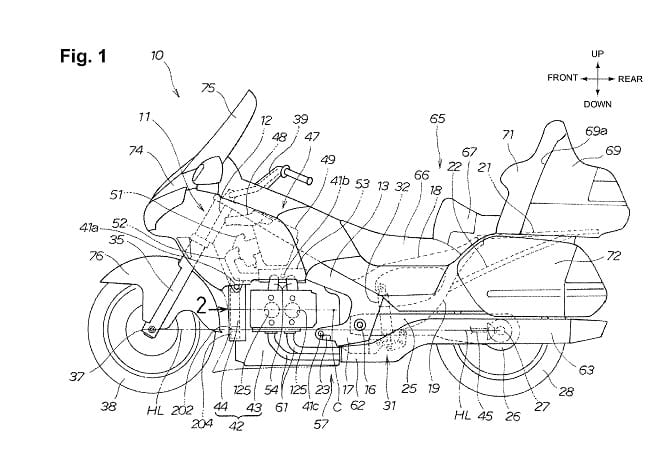 Honda Goldwing Hybrid patents date back to 2011