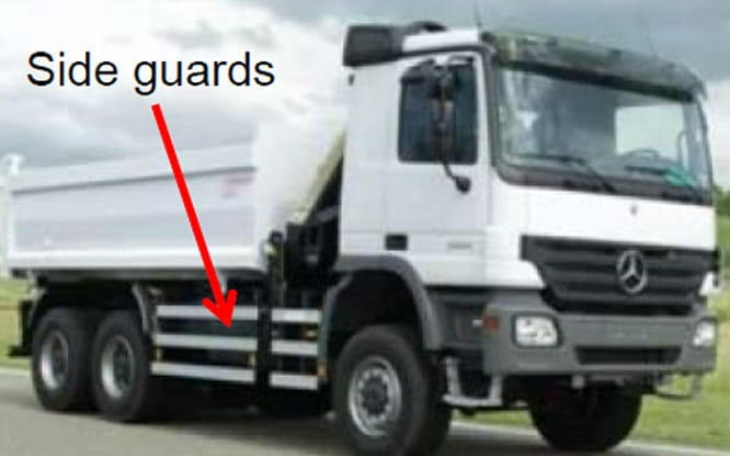 Official photographs of the new safer trucks