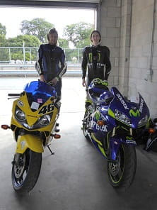 More Hondas. Nathan, on the left, has a 2002 Fireblade F4I while his pal Aaron runs the perfect track bike, a Honda CBR600RR dating from 2006. Both want to do a couple more tack days then get into Superstock racing.