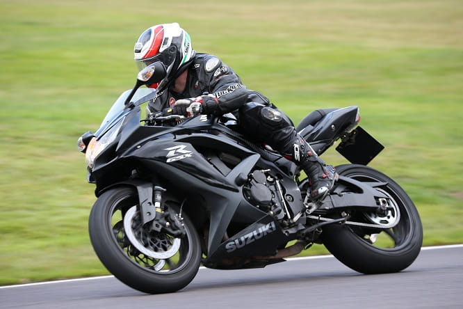 Bike Social contributor Jim Lindsay enjoys the relaxed tempo of a road bike only track day on his GSXR750